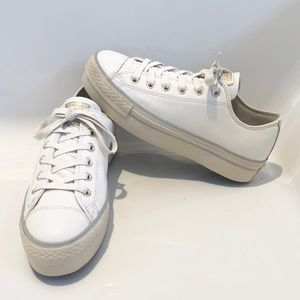 Converse Allstar Leather Sneakers Double Soles